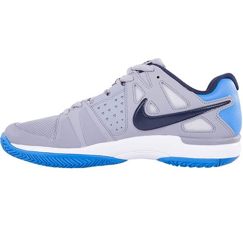 nike air vapor advantage s tennis shoe grey blue