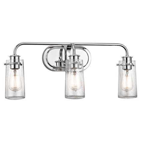 Braelyn 3 Light Bath Light In Chrome 3 Light Bathroom Light