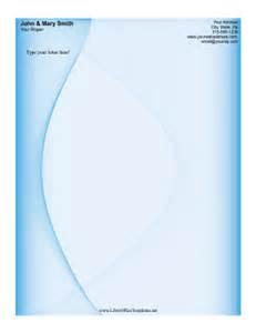 Blue Swirl Letterhead