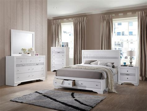Naima Set naima bedroom 25770 5pc set in white by acme w options