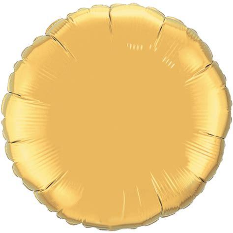 Balon Foil Metallic 18 quot metallic gold plain circle foil balloon