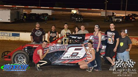 tri state racing results vaughn woodcock claim tri state speedway checkers
