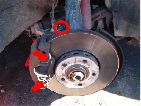 audi a4 brake pad replacement a4 b5 front brake pads rotors replacement diy with