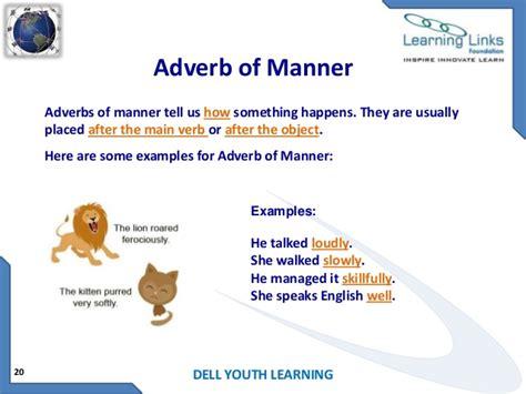 exle of adverb adverbs