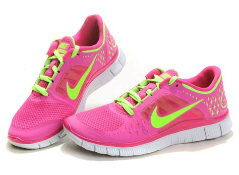 outlet nike free run 3 womens pink green 2013