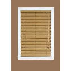 home depot wood blinds madera falsa maple 2 in faux wood plantation blind 36