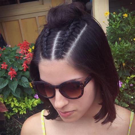 cute short hairstyle  braids braided short