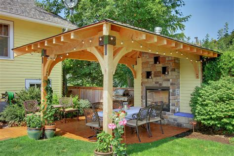 Covered Gazebos For Patios Seattle Exterior Renovations By Construction