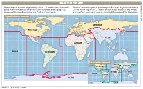 combatant command map more cocom consolidation options intercepts defense news