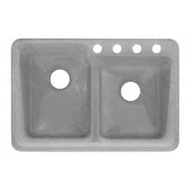 Shop Corstone Double Basin Drop In Acrylic Kitchen Sink At Corstone Kitchen Sinks