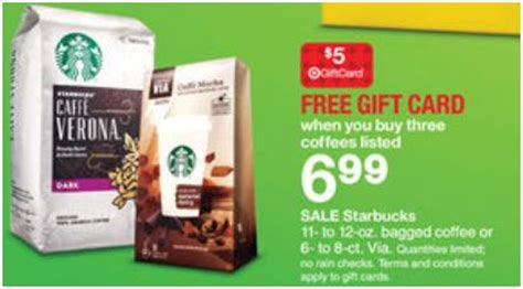 Target Gift Card Promotions - target today only starbucks 2 99 each after coupon target gift card and