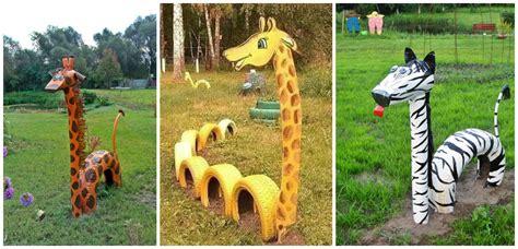imagenes de jirafas para jardin 10 ideas incre 237 bles para reciclar llantas viejas de autos
