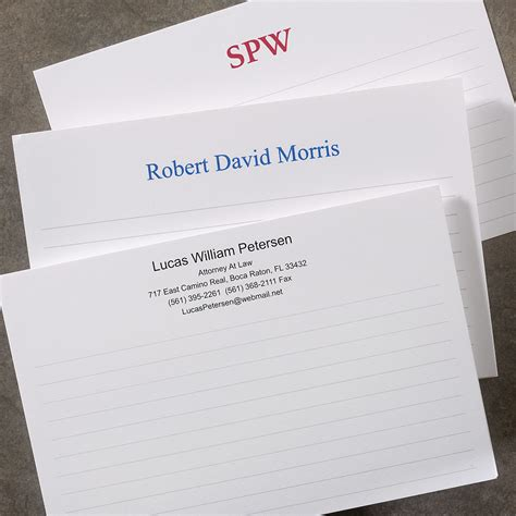 Custom Note 16 250 personalized 4 x 6 horizontal cards personalized