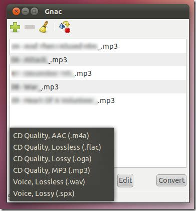 audio format converter ubuntu convert and extract audio from video files with gnac linux