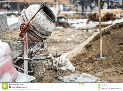 Cement Factory House Industrial Cement Mixer Machine At House Construction Site