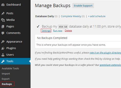 Tutorial Backup Wordpress | tutorial on how to backup wordpress learn web tutorials