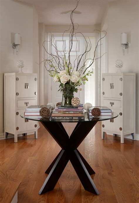 entry hall table decor favorite round entryway table ideas decohoms
