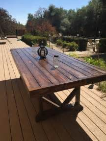 Outdoor Wood Patio Table by Best 25 Deck Table Ideas On Pinterest
