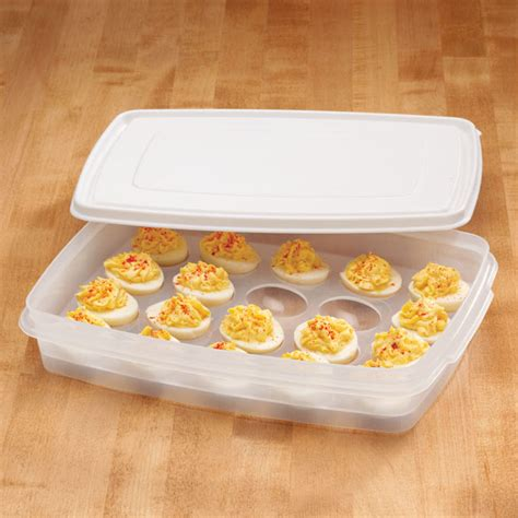 Deviled Eggs Shelf by Deviled Egg Carrier Kitchen Food Storage Container Picnic