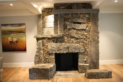 Asymmetrical Fireplace by The Stonework And Of Lew