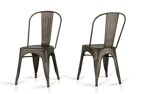 Modern Metal Dining Chair Elan Modern Rust Metal Dining Chair Set Of 2