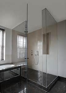fully frameless glass shower enclosure contemporary