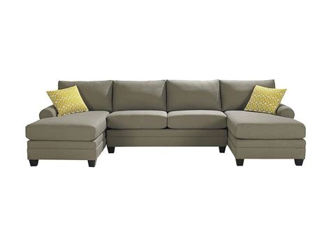 dual chaise sofa bassett living room double chaise sectional 3851 csect