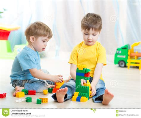 in playschool or at home stock photo image