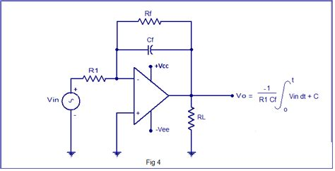 integrator circuit using rc integrator circuit using op op integrator design derivation for output voltage waveforms