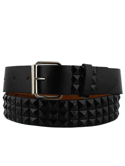 Studded Belt new black pyramid studded belt ebay