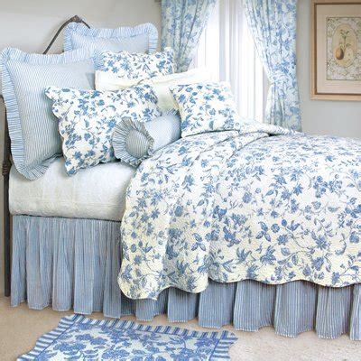 discount french toile quilt comforter sets  buy cheaper