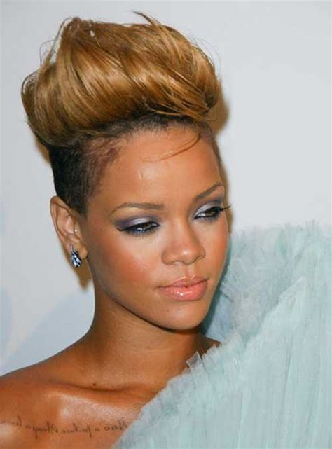 black women with short blonde mohawks 10 best rihanna short blonde hair short hairstyles 2017