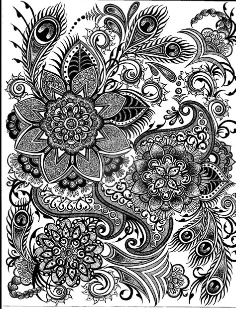 pattern design in drawing peacock drawing by mafidia on deviantart