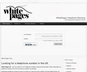 Search White Pages Phone Book Whitepages Co Uk White Pages Uk Phone Book Uk Telephone Numbers Directory