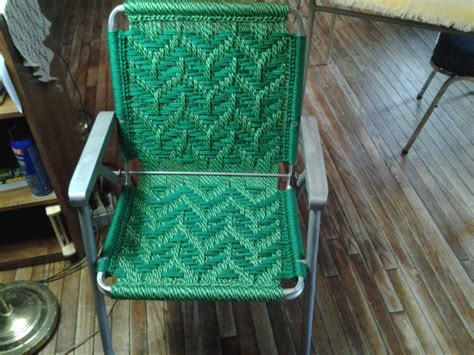 Macrame Lawn Chair macrame lawn chair recycled frames woven lawn chairs