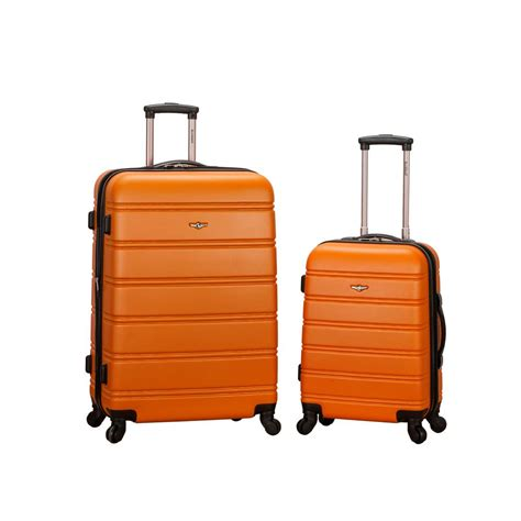 rockland expandable abs spinner set f225 orange the home