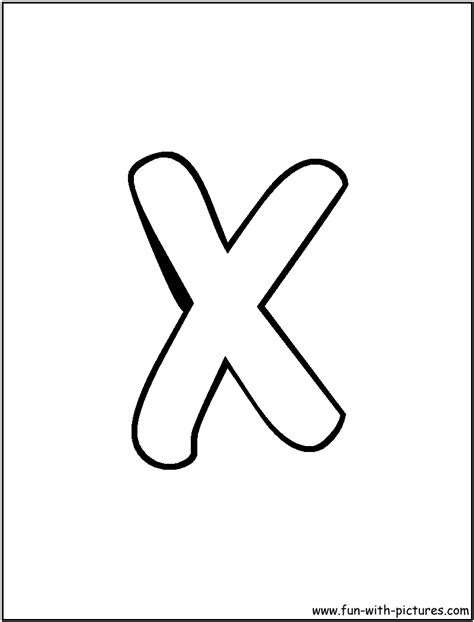 Letter X free coloring pages of writing c