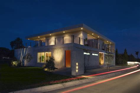 street view of houses street view lighting gp house in hidalgo mexico by bitar arquitectos