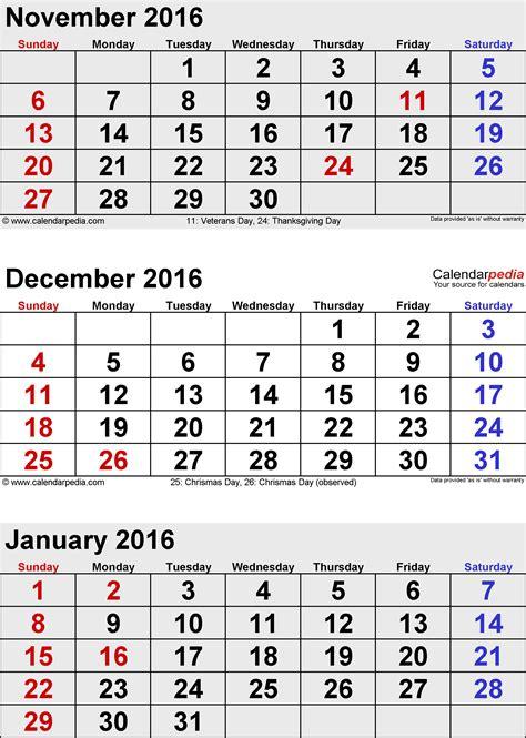 Jan Calendar 2016 January 2016 Calendars For Word Excel Pdf