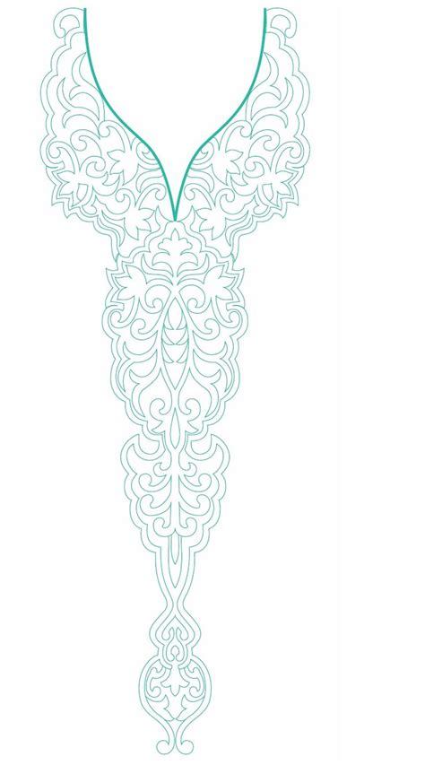 Design Line Embroidery   neck line embroidery design