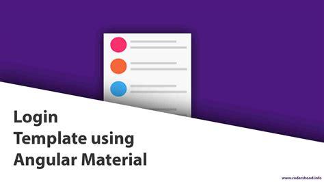 login template login template using angular material codershood