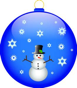 free ornament clip art image snowman on a christmas ornament with snowflakes