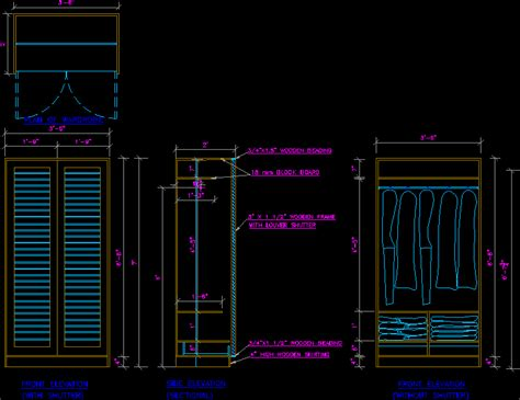 cabinet dwg detail  autocad designs cad