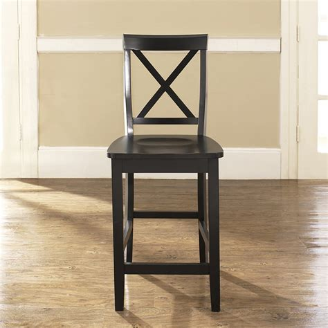 30 Inch Bar Stool With Back X Back Bar Stool With 30 Inch Seat Height Black Set Of 2 Dcg Stores