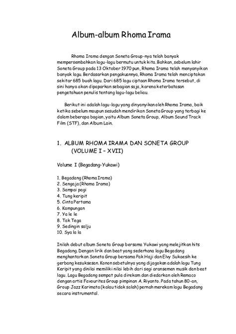 daftar judul film rhoma irama bimbingan daftar nama lagu rhoma irama daftar nama lagu rhoma