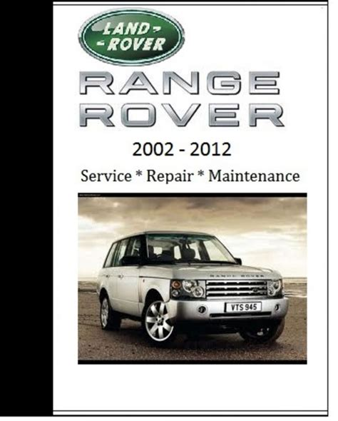 land rover range rover 2008 2009 2010 repair workshop manual car service