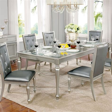 silver dining table sarina silver dining table shop for affordable home