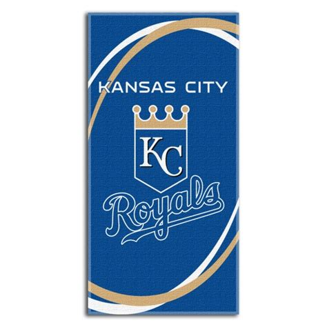 kansas city royals bedding kansas city royals mlb 30 quot x 60 quot terry beach towel