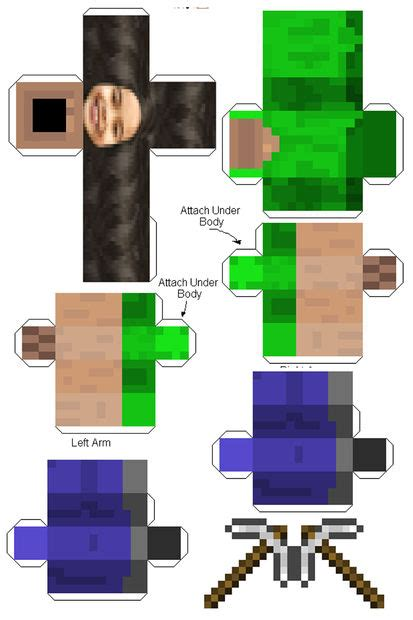 Minecraft Steve Papercraft Template - 3d paper crafts minecraft steve
