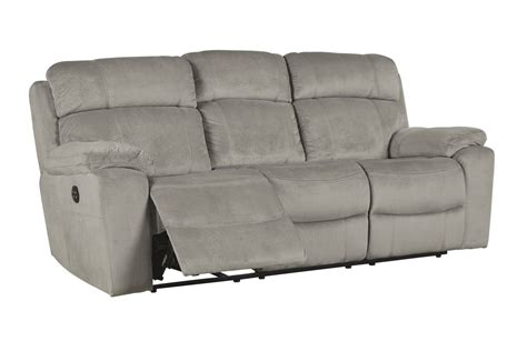 power reclining sofa with adjustable headrest tony granite power reclining sofa with adjustable headrest